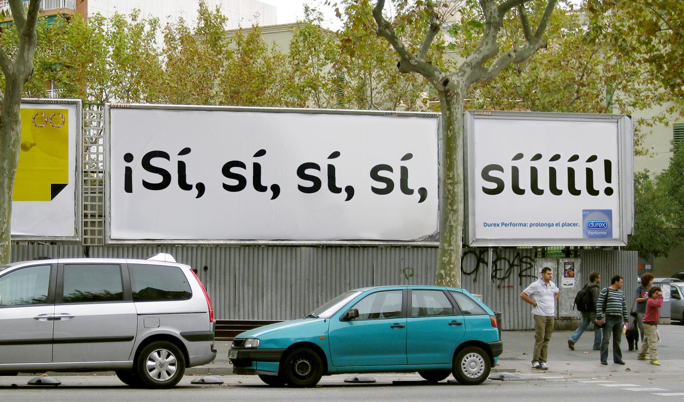 Креатив Creative. Испанская реклама продлевающих удовольствие